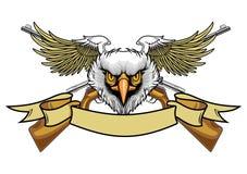 Орел и винтовки Balded Стоковое фото RF