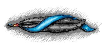 Орел пера вектора индийский Стоковая Фотография RF