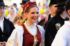 Орел, Россия, 4-ое августа 2015: Фестиваль Orlovskaya Mozaika фольклорный, Стоковое Фото