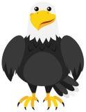 Орел с счастливой стороной иллюстрация вектора