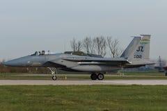 Орел USAF F-15 во время тренировки флага Frisian Стоковые Фотографии RF
