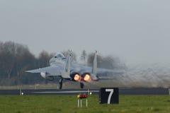 Орел USAF F-15 принимая во время тренировки флага Frisian Стоковая Фотография