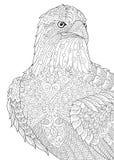 Орел Zentangle стилизованный иллюстрация вектора