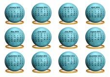 оригинал 2010 календаров Стоковое Фото