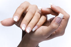 оригинал manicure перстов конструкции Стоковая Фотография RF