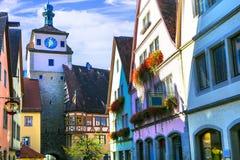 Ориентиры der Tauber ob Германии - Ротенбург Известный маршрут стоковые изображения