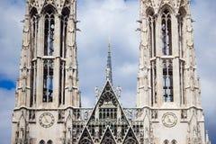 Ориентир ориентир вены - церковь Votivkirche Votive Стоковое Фото