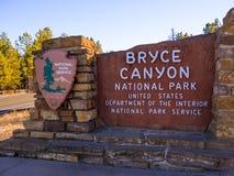 Ориентир ориентир национального парка каньона Bryce - популярный и красивый стоковые фотографии rf