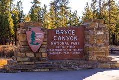 Ориентир ориентир национального парка каньона Bryce - популярный и красивый стоковые фото