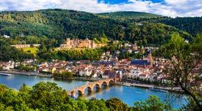 Ориентир ориентиры городок Германии, Гейдельберга средневековый стоковое фото