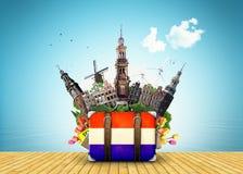 Ориентир ориентиры Голландии, Амстердама Стоковая Фотография