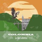 Ориентир ориентиры Колумбии Ретро введенное в моду изображение иллюстрация штока