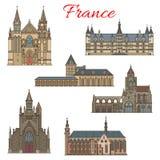 Ориентир ориентиры перемещения француза и средневековые здания бесплатная иллюстрация