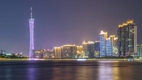 Ориентир ориентир Гуанчжоу на ноче Стоковое Фото