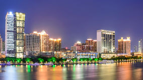 Ориентир ориентир Гуанчжоу на ноче Стоковое Изображение