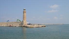 Ориентир ориентир маяка Rethymno сток-видео