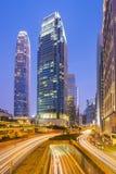 Ориентир ориентир центрального района Гонконга с башней IFC Стоковые Фото