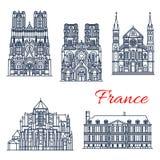 Ориентир ориентир перемещения французской римско-католической церков бесплатная иллюстрация