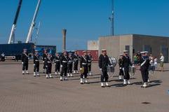 Оркестр датского военно-морского флота стоковые изображения