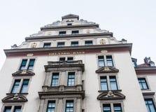 Орландо Haus до полудня Platzl, историческое здание в центре города Mun стоковое изображение