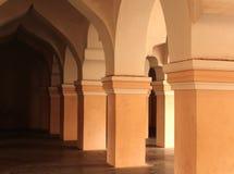 Орнаментальная зала людей в дворце maratha thanjavur Стоковое Изображение RF