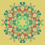 Орнаментальная круглая безшовная картина шнурка Стоковые Фотографии RF