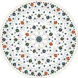 Орнаментальная круглая флористическая картина шнурка Стоковое фото RF