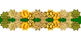 Орнаментальная лента сделанная абстрактных форм полных fruity текстур Стоковое фото RF