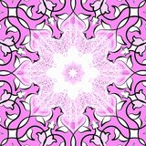 орнаментальная розовая плитка Иллюстрация штока
