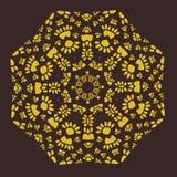 Орнаментальная симметричная скороговорка в стиле тахты Стоковое Изображение RF