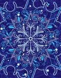 орнаментальная снежинка Стоковое Изображение RF