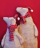 Орнаментальные полярные медведи Стоковое Фото