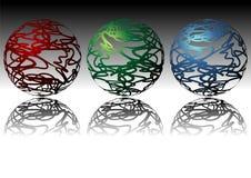 орнаментальные сферы иллюстрация вектора