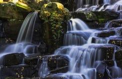 Орнаментальный водопад каскада - вода Вирджинии, Суррей, Великобритания стоковая фотография rf
