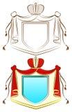 орнаментальный королевский экран Стоковое Изображение RF