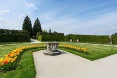 Орнаментальный парк с тюльпанами Стоковые Фото