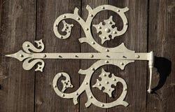 Орнаментальный шарнир двери Стоковая Фотография