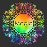 Орнаментальная абстрактная круглая покрашенная радуга шнурка Стоковые Фотографии RF