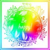 Орнаментальная абстрактная круглая покрашенная радуга шнурка Стоковые Фото