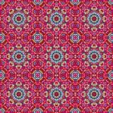 Орнаментальная безшовная картина Абстрактное красное геометрическое Стоковые Фотографии RF