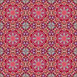 Орнаментальная безшовная картина Абстрактный красный геометрический вектор Стоковые Фотографии RF