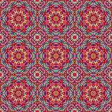 Орнаментальная безшовная картина Абстрактный красный геометрический bac вектора Стоковые Изображения