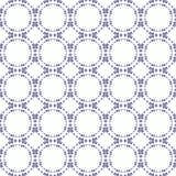 Орнаментальная безшовная картина Голубые и белые цветы E Стоковые Изображения