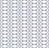 Орнаментальная безшовная картина Голубые и белые цветы E Стоковое фото RF