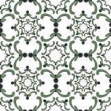 Орнаментальная безшовная картина сбор винограда шаблона предпосылки изолированный золотом lable Стоковые Изображения