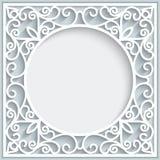 Орнаментальная бумажная рамка Стоковое фото RF