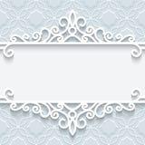 Орнаментальная бумажная рамка Стоковая Фотография RF