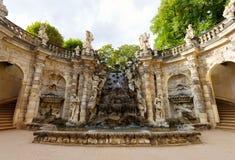 Орнаментальная ванна Nymphenbad нимф фонтана в Zwinger стоковое фото rf