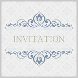 Орнаментальная винтажная иллюстрация для wedding приглашений, поздравительных открыток Стоковые Фото