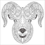 Орнаментальная голова козы или штосселя Стоковые Изображения
